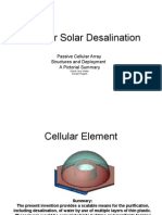 Fresh Water from World View Water's Laminar Solar Desalination Cell and Array