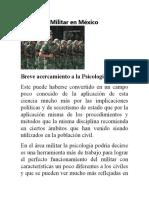 Psicología Militar en México