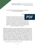 Córdoba Triviño - La tutela contra sentencias judiciales