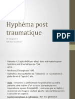 Hyphema post traumatique