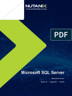 Best Practices Virrtualizing MS SQL Server on Nutanix