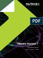 Reference Architecture - VMware Horizon 7 on Nutanix AHV