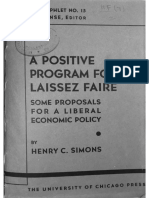 Simons Henry C. 1934 A Positive Program for Laissez Faire