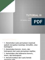 Materi tutorial 3