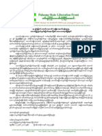 PSLF statement on 48th Palaung National Revolution Day