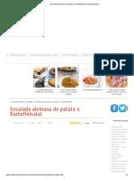 Ensalada alemana de patata o Kartoffelsalat