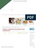 Tabulé o tabbouleh (ensalada árabe tradicional)