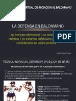 CAPACITACION VIRTUAL DE INICIACION AL BALONMANO - La defensa en balonmano