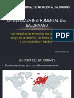 CAPACITACION VIRTUAL DE INICIACION AL BALONMANO - LA ENSENAZA INSTRUMENTAL DEL BALONMANO