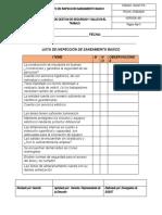 Formato de inspeccion ambiente de trabajo