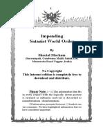 Markam, Sheetal - Impending Satanist World Order