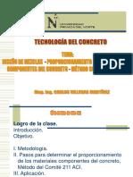 SEMANA 7(2) - DISEÑO DE MEZCLA METODO ACI - EJERCICIO DE APLICACIÓN