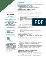 CV Français .PDF