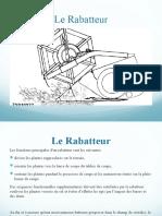 Paramétrage Du Fonctionnement Du Rabatteur
