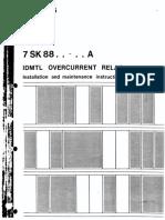 RELE SOBRECORRIENTE 7SK8854 SIEMENS