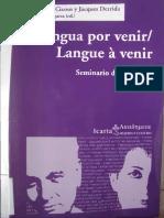 Cixous, H. - Derrida, J. Lengua por venir