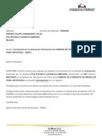 Sistema de información Konfirma - Respuesta de trámiteProveedores
