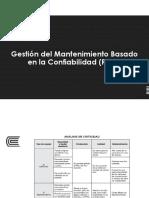 Gestión del Mantenimiento Basado en Confiabilidad - RCM
