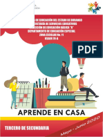 CUADERNILLO ACTIVIDADES APRENDE EN CASA 3 Secundaria