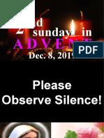 2nd advent Dec 8, 2019