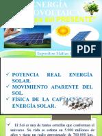 Clase I (11 - 13 HRS); Análisis principios físicos E. Solar (2)