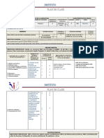 Plan de Clase 2019 - 601- Lic. 3 Años