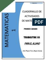 MATEMATICAS 1° Secundaria CUADERNILLO DE ACTIVIDADES (3er trimestre)