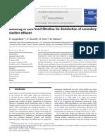12 - Modeling of slow sand filtration