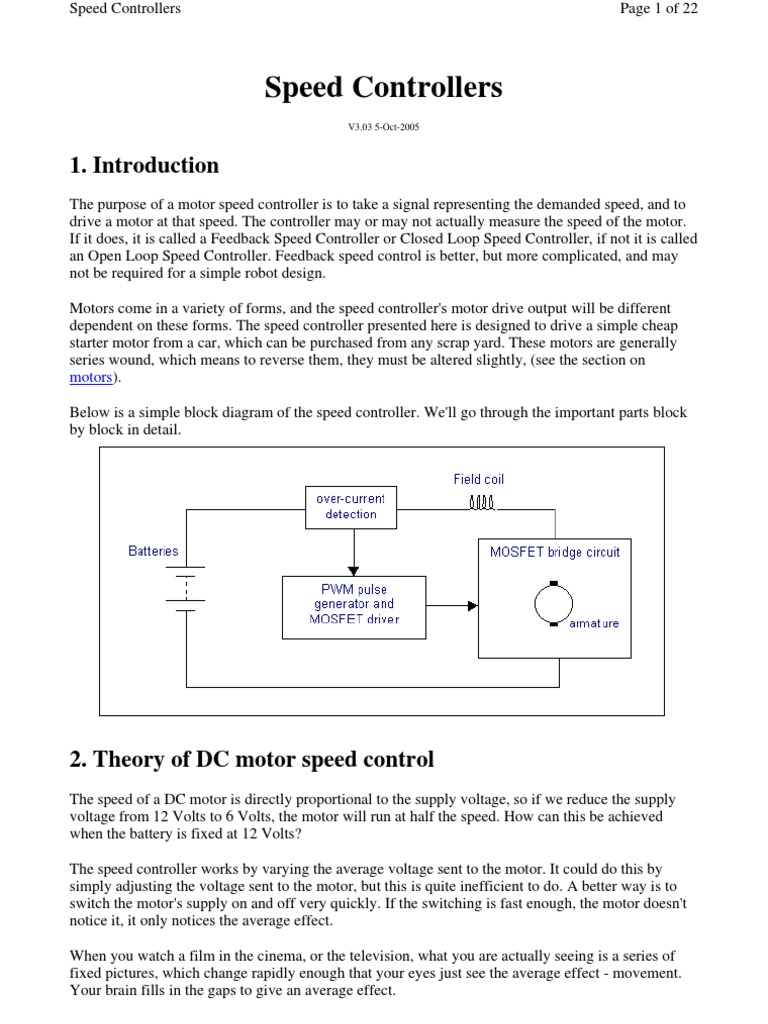 Dc Motor Speed Controller Relay Mosfet Diagram Image