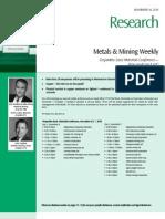 Des Jar Dins - Metals and Mining Weekly
