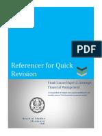 Referencer for Strategic Financial Management