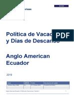 Política de Vacaciones y Días de Descanso - AAEC _rev1