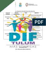 PROGRAMA SEMANAL DE PARTICIPACIÓN INFANTIL