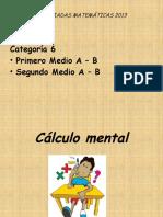 OLIMPIADAS DE MATEMÁTICAS 1° - 2° Medio