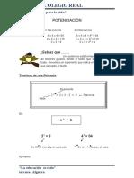 Potenciació Algebra