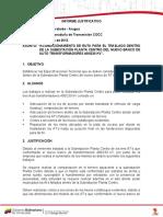 INF JUSTIFICATIVO ADECUACIÓN DE RUTA NUEVO BANCO AT 400230