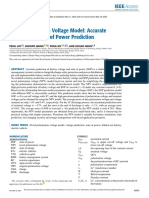 Novel Polarization Voltage Model Accurate Voltage and State of Power Prediction