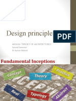 Theory of Architecture I-2nd L- Design Principle