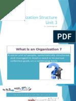 Organization structure (Unit 3 notes)