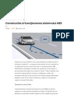 Constructia Si Funcţionarea Sistemului ABS – AutoTehnica