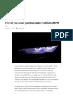 Faruri Cu Laser Pentru Automobilele BMW – AutoTehnica