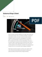 Sistemul Stop & Start – AutoTehnica