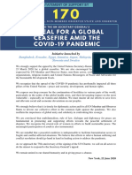 Statement of Support to UNSG Appeal for a Global Ceasefire Amid the COVID-19 Pandemic(1)