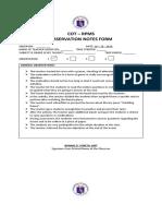 observation-notes sample form