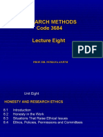 8-Research Methods 3684 Lecture Eight
