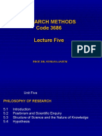 5-Research Methods 3684 Lecture Five