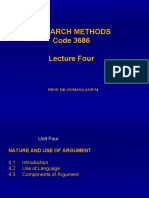 4-Research Methods 3684 Lecture Four