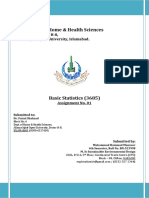 Solution-3685 Basic Statistics 1st Assignment