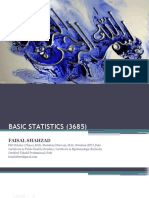 Basic Statistics (3685) PPT - Lecture on 20-01-2019