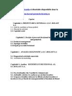1470 Diagnostic Area Si Reproiectarea Sistemului Decizional (S.C. XYZ S.a., Slatina)
